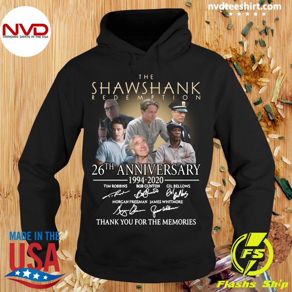 The Shawshank Redemption 26th Anniversary 1994 2020 Signatures Shirt Hoodie