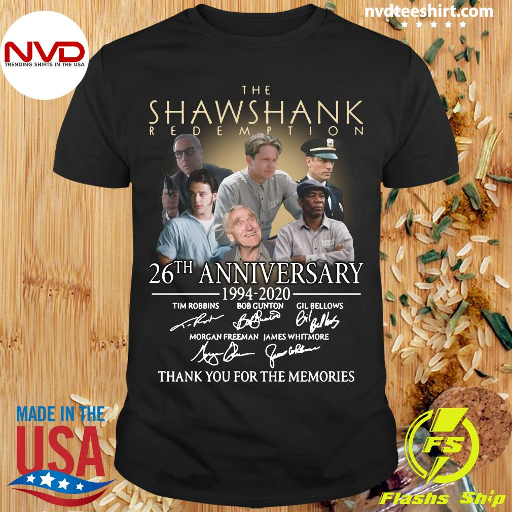 The Shawshank Redemption 26th Anniversary 1994 2020 Signatures Shirt