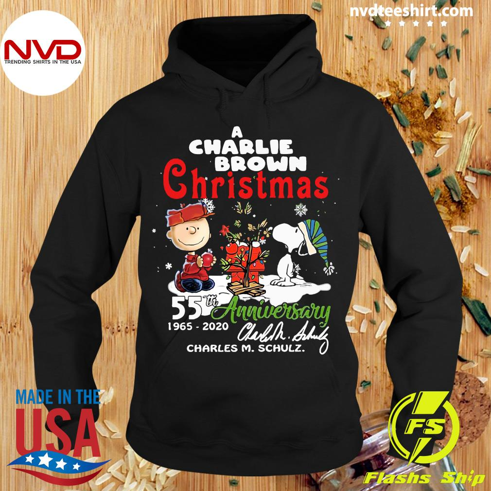 A Charlie Brown Christmas 55th Anniversary 1965-2020 Charles M Schulz Snoopy Shirt Hoodie