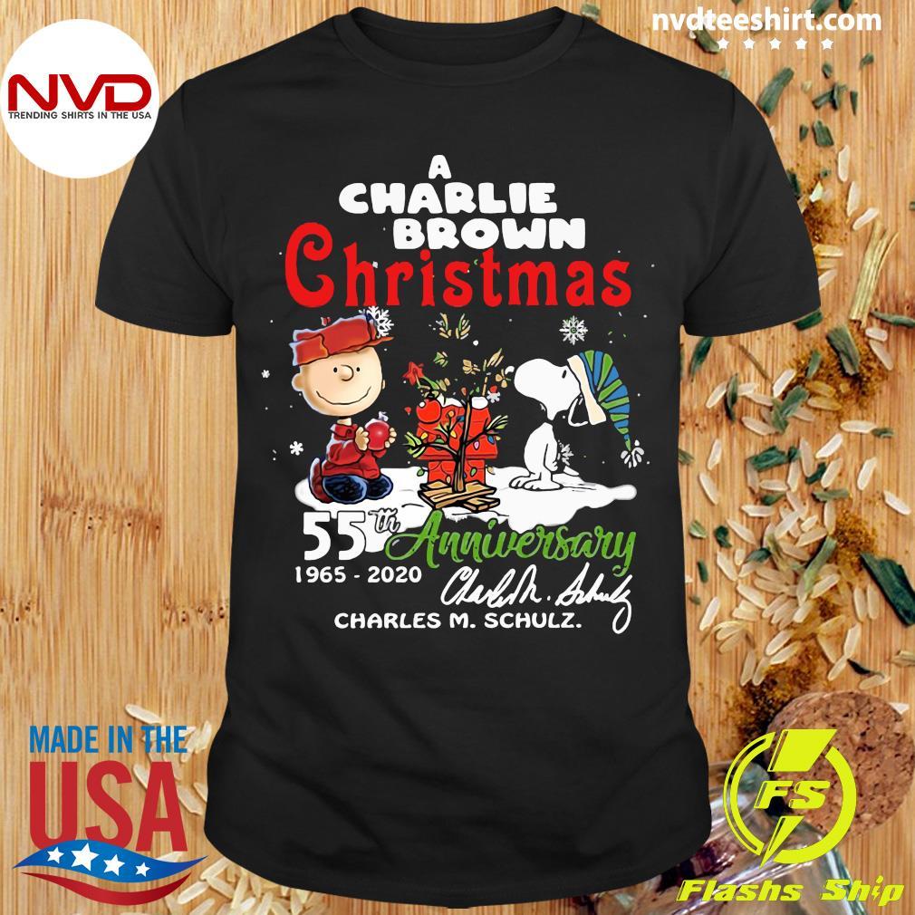 A Charlie Brown Christmas 55th Anniversary 1965-2020 Charles M Schulz Snoopy Shirt