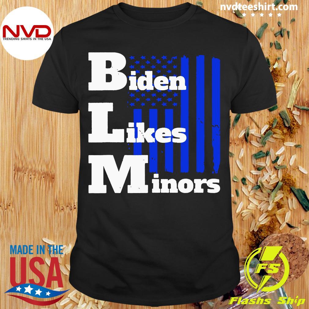 BLM Biden Likes Minors Election 2020 Pro Biden For President American Flag Shirt