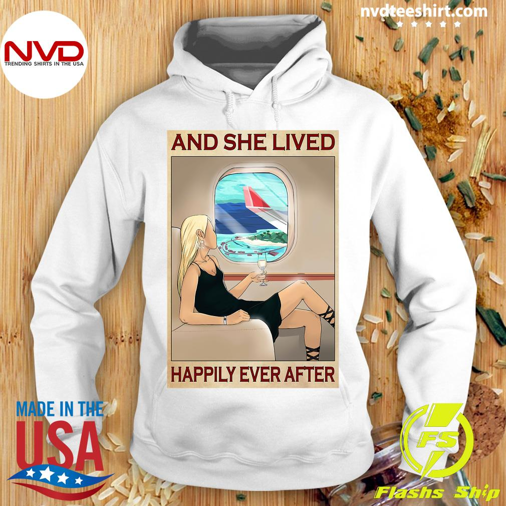 Funny Girl And She Lived Happily Ever After Shirt Hoodie