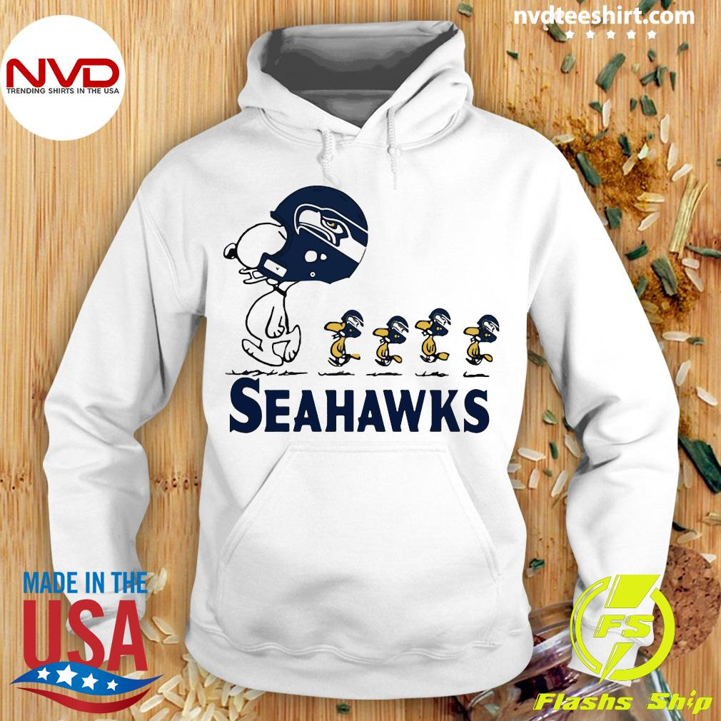 Funny Snoopy Seattle Seahawks Woodstock Shirt Hoodie