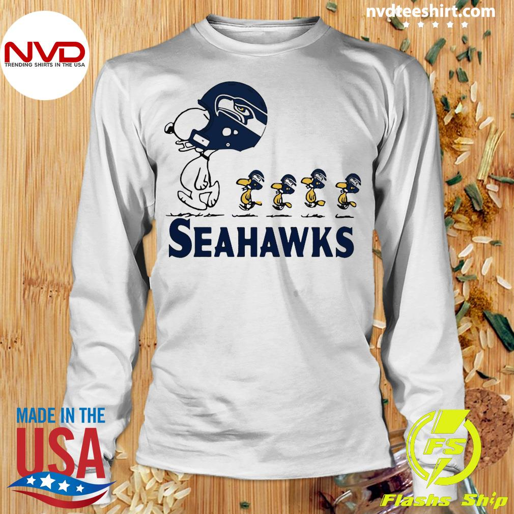 Funny Snoopy Seattle Seahawks Woodstock Shirt Longsleeve