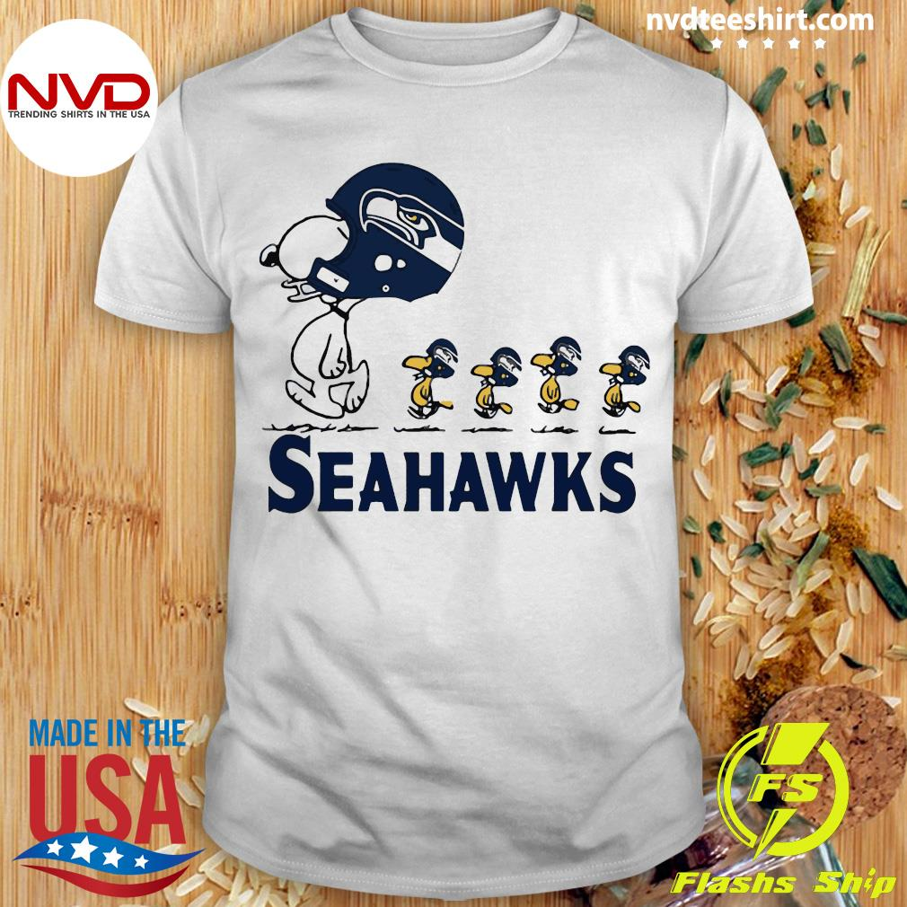 Funny Snoopy Seattle Seahawks Woodstock Shirt