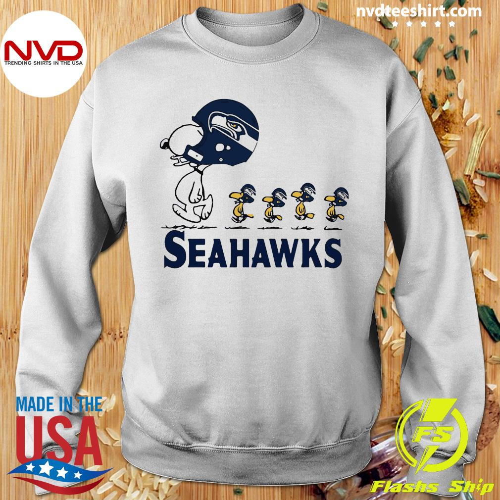 Funny Snoopy Seattle Seahawks Woodstock Shirt Sweater