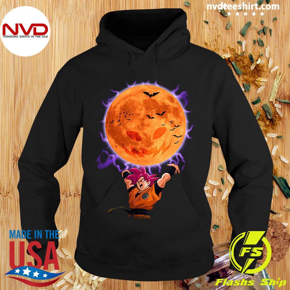 Halloween Dragon Ball Son Goku Super Saiyan God Genkidama Pumpkin Shirt Hoodie