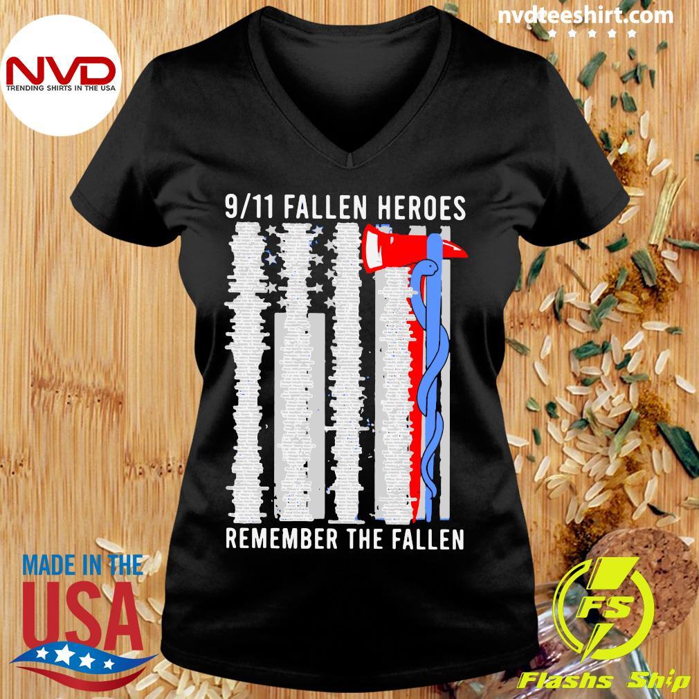 Official 9 11 Fallen Heroes Remember The Fallen Shirt Ladies tee