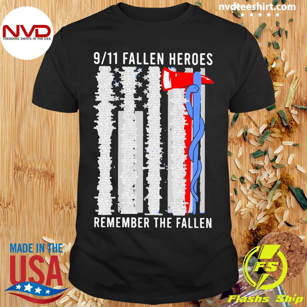 Official 9 11 Fallen Heroes Remember The Fallen Shirt Masswerks Store