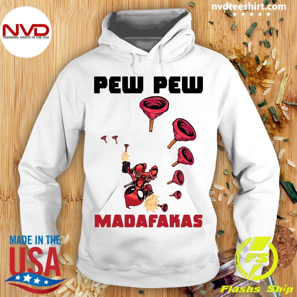 Official Baby Yoda Deadpool Pew Pew Madafakas Shirt Hoodie