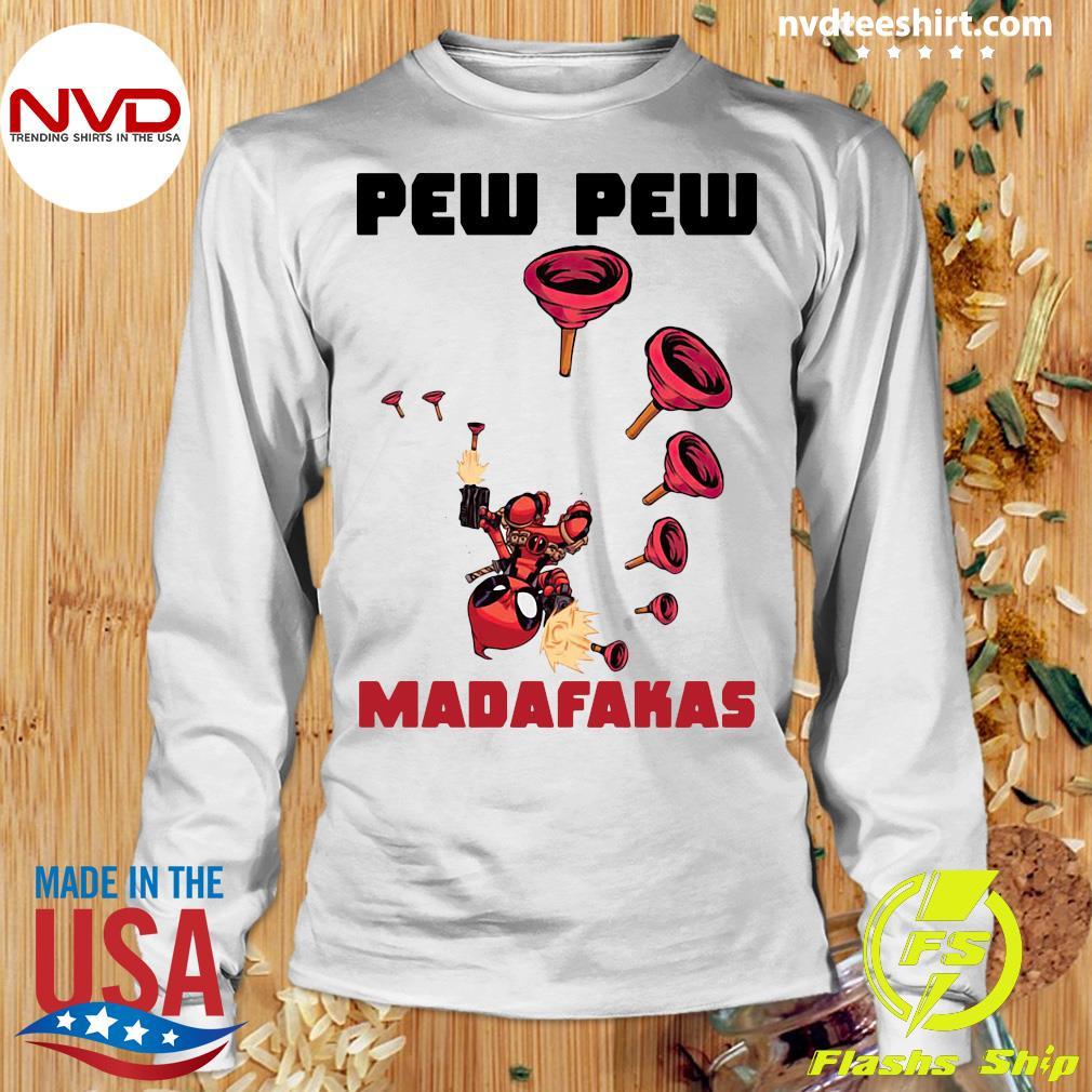 Official Baby Yoda Deadpool Pew Pew Madafakas Shirt Longsleeve