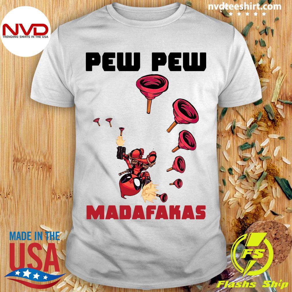 Official Baby Yoda Deadpool Pew Pew Madafakas Shirt