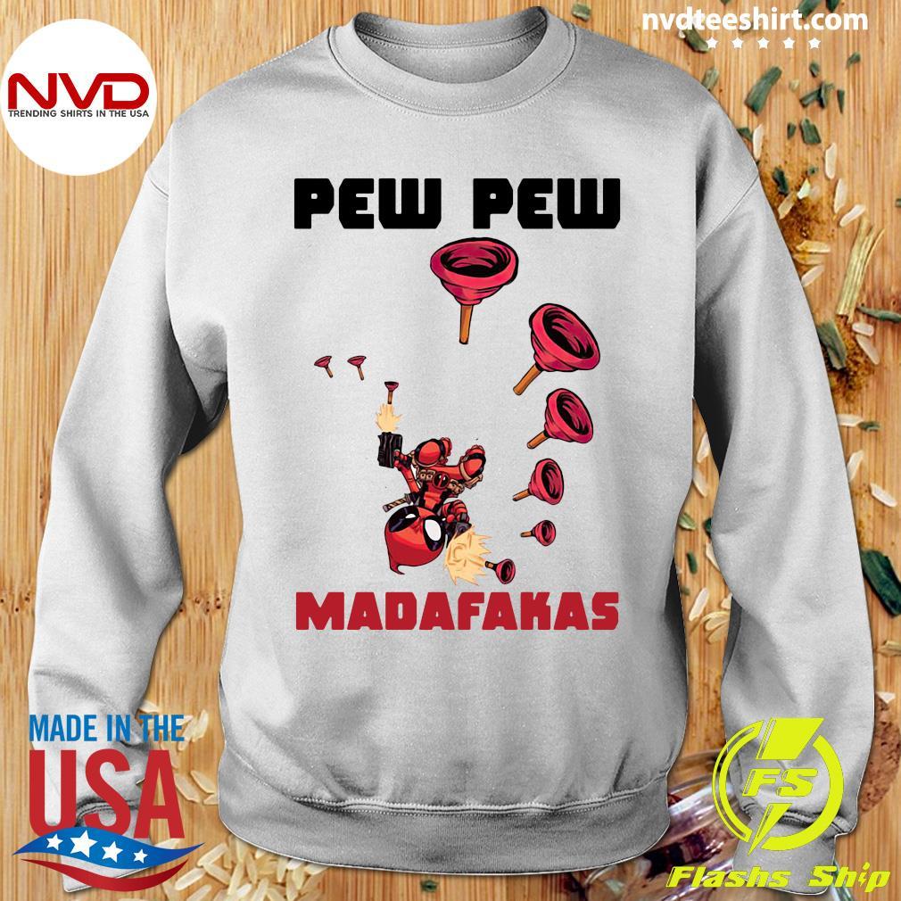 Official Baby Yoda Deadpool Pew Pew Madafakas Shirt Sweater