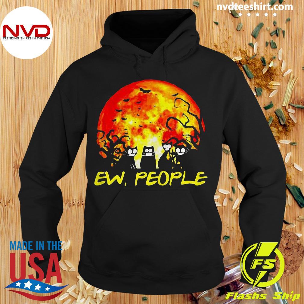 Official Black Cat Ew People Halloween Gift Shirt Hoodie