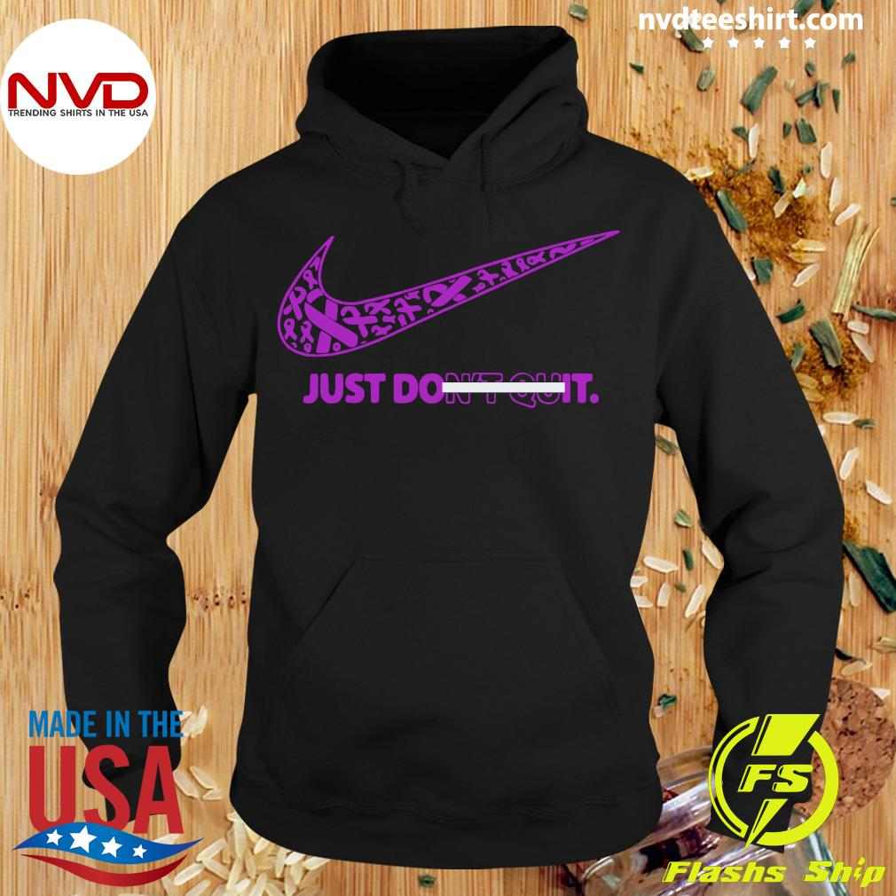 Official Breast Cancer Awareness Nike Just Don't Quit Shirt Hoodie