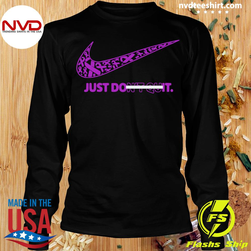 Official Breast Cancer Awareness Nike Just Don't Quit Shirt Longsleeve