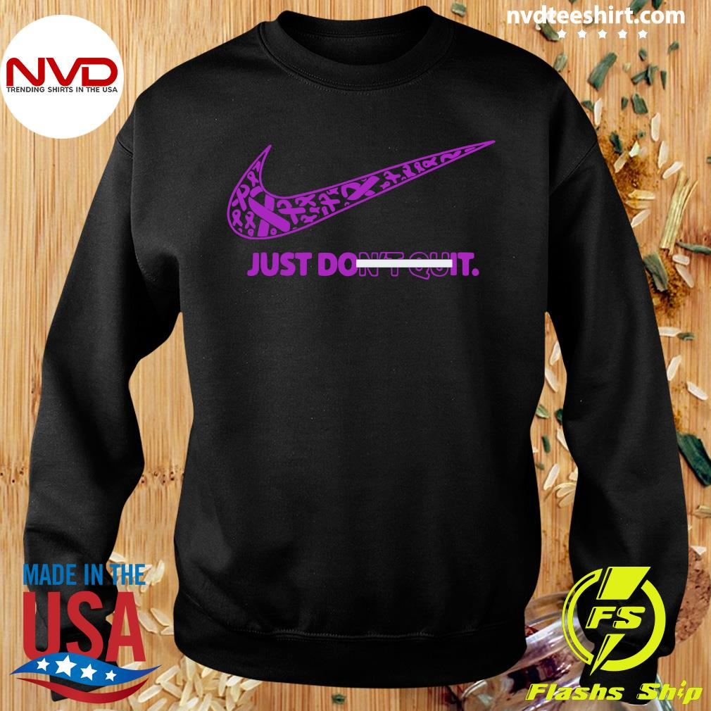 Official Breast Cancer Awareness Nike Just Don't Quit Shirt Sweater