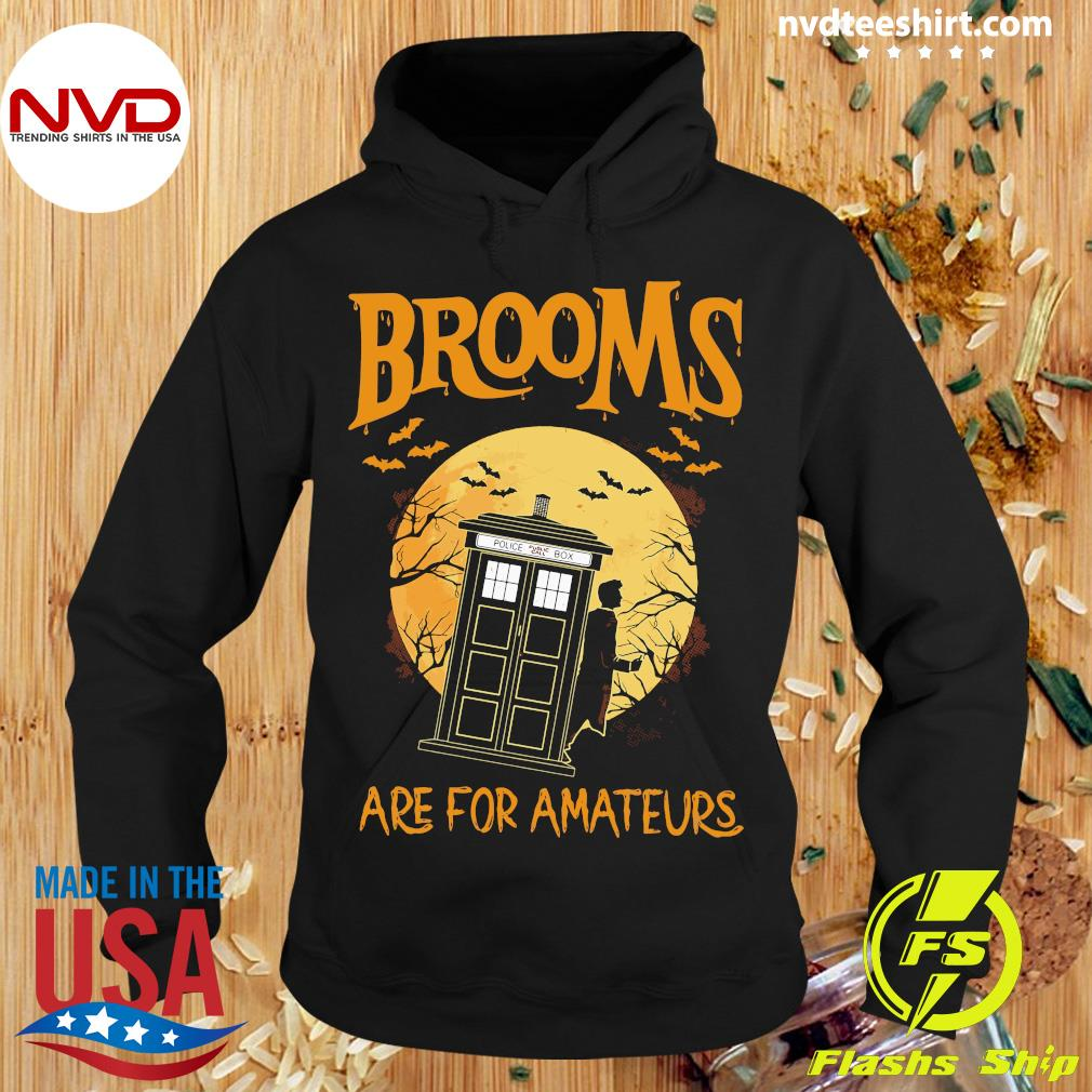 Official Brooms Are For Amateurs Halloween Shirt Hoodie