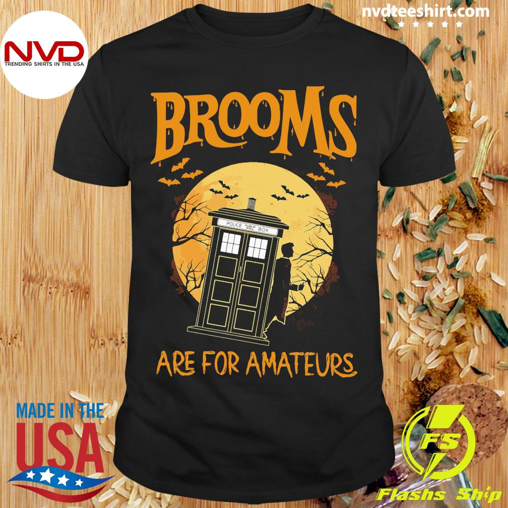 Official Brooms Are For Amateurs Halloween Shirt