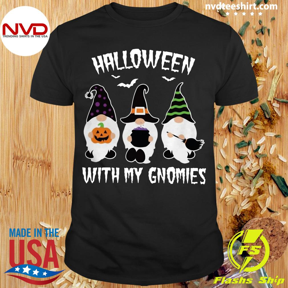 Official Halloween With My Gnomies Dwarfs Shirt