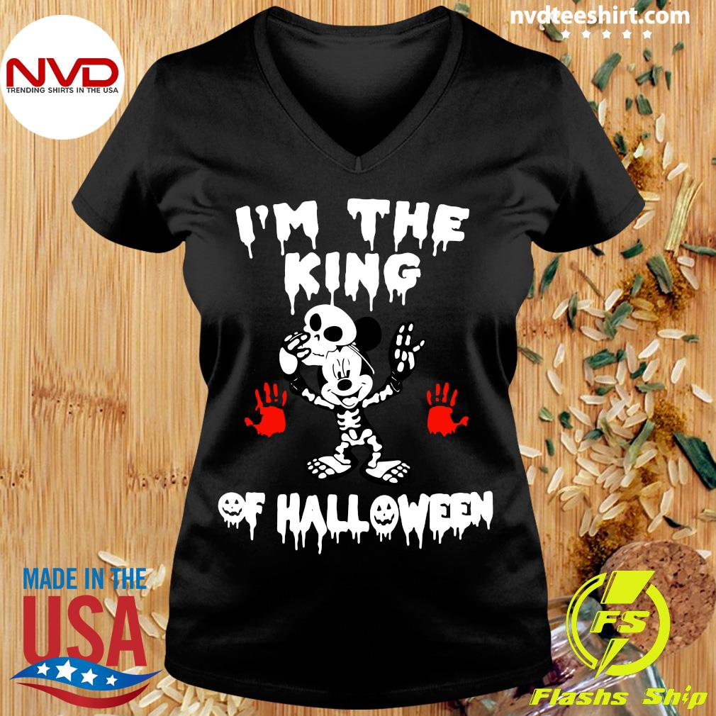 Official I'm The King Of Halloween Mickey Mouse Disney Shirt Ladies tee