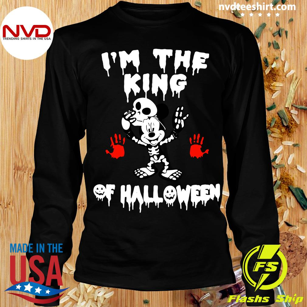 Official I'm The King Of Halloween Mickey Mouse Disney Shirt Longsleeve