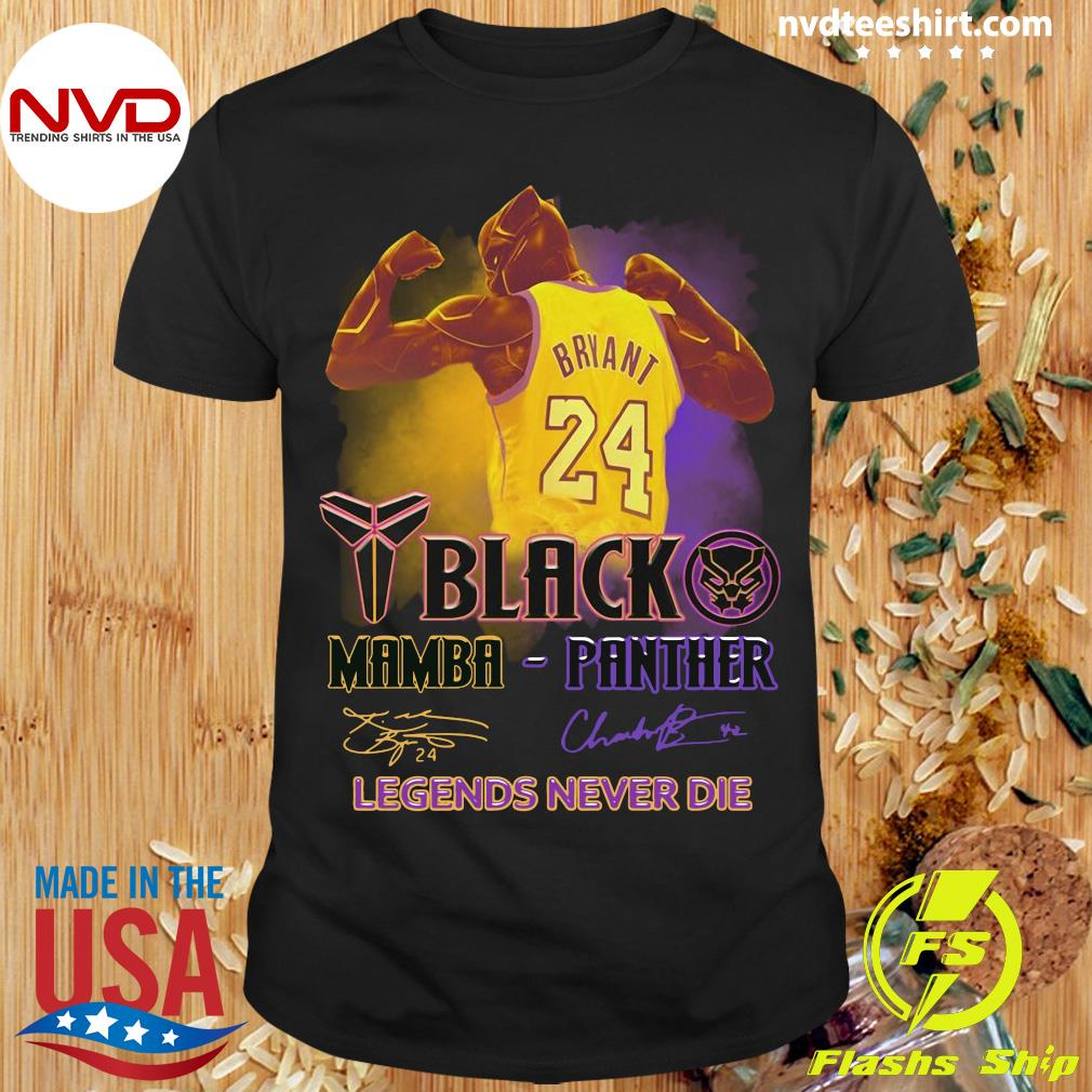 Official Kobe Bryant's And Black Panther Legends Never Die Signatures Shirt
