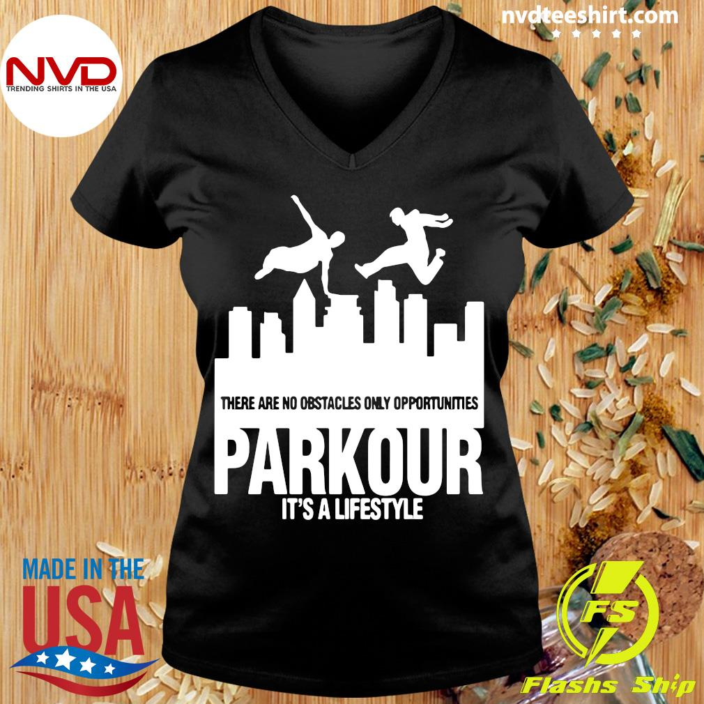 Official Parkour It's A Lifestyle Military Obstacle Training Fun Gift Shirt Ladies tee