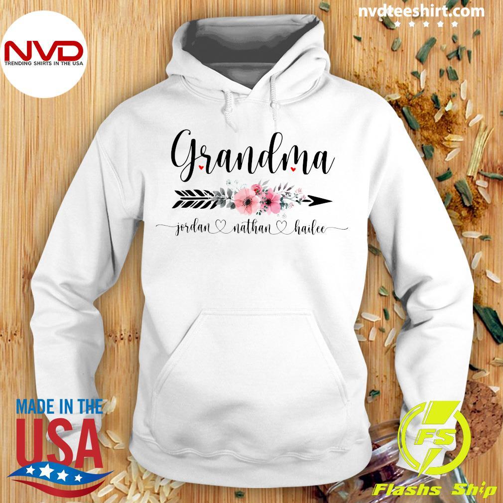 Official Personalized Grandma With Grandkid Jordan Nathan Hailee Shirt Hoodie