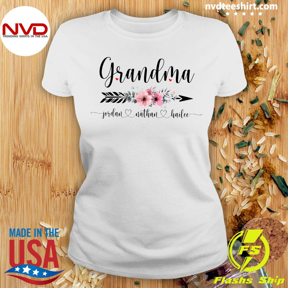 Official Personalized Grandma With Grandkid Jordan Nathan Hailee Shirt Ladies tee