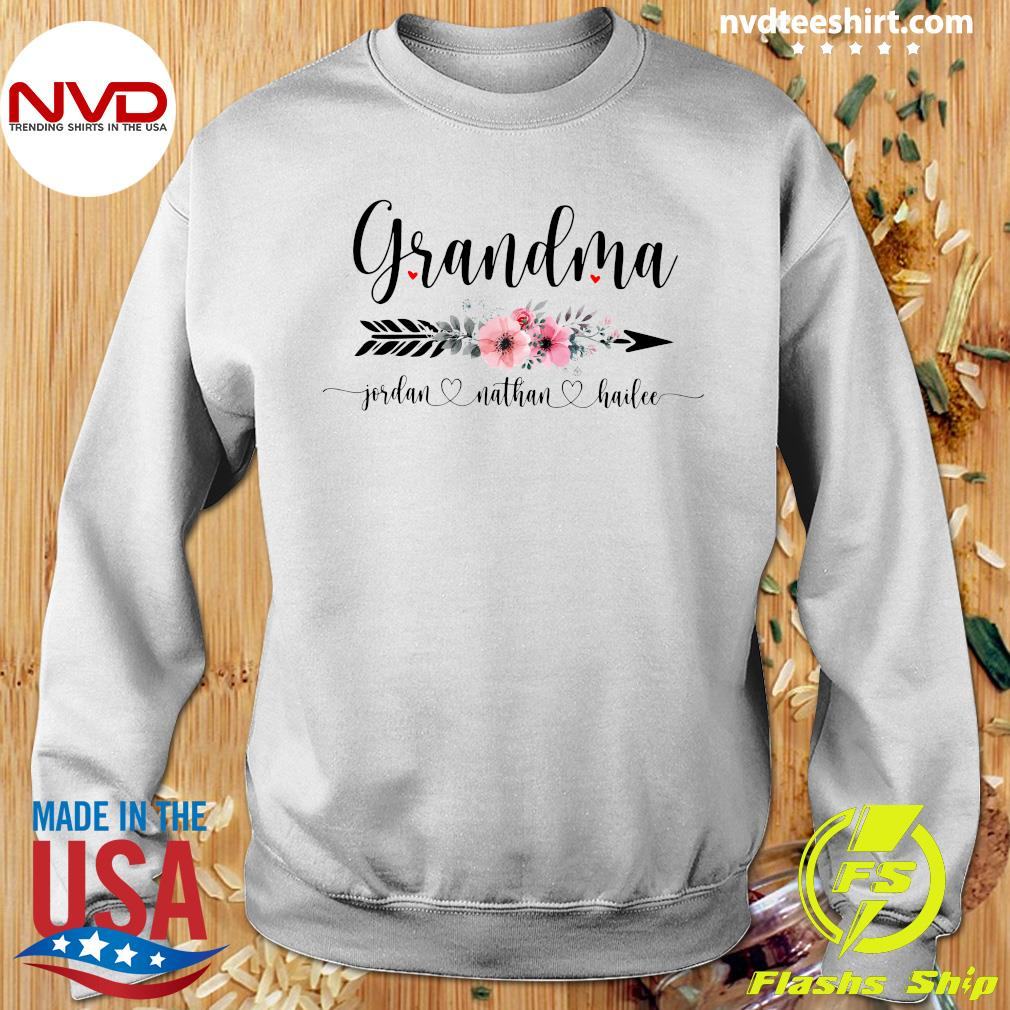 Official Personalized Grandma With Grandkid Jordan Nathan Hailee Shirt Sweater