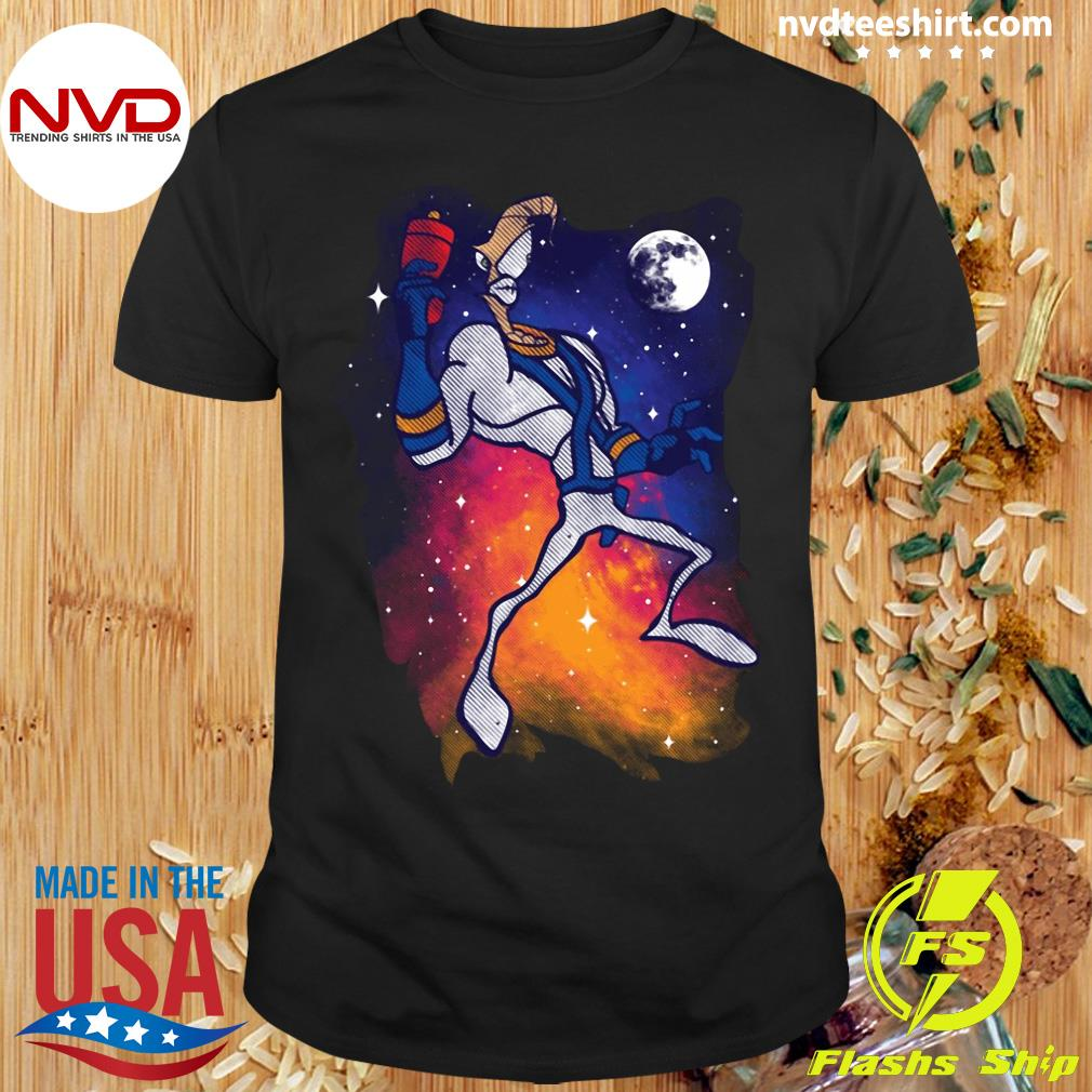 Official Space Jam Space Worm Vintage Sunset Shirt