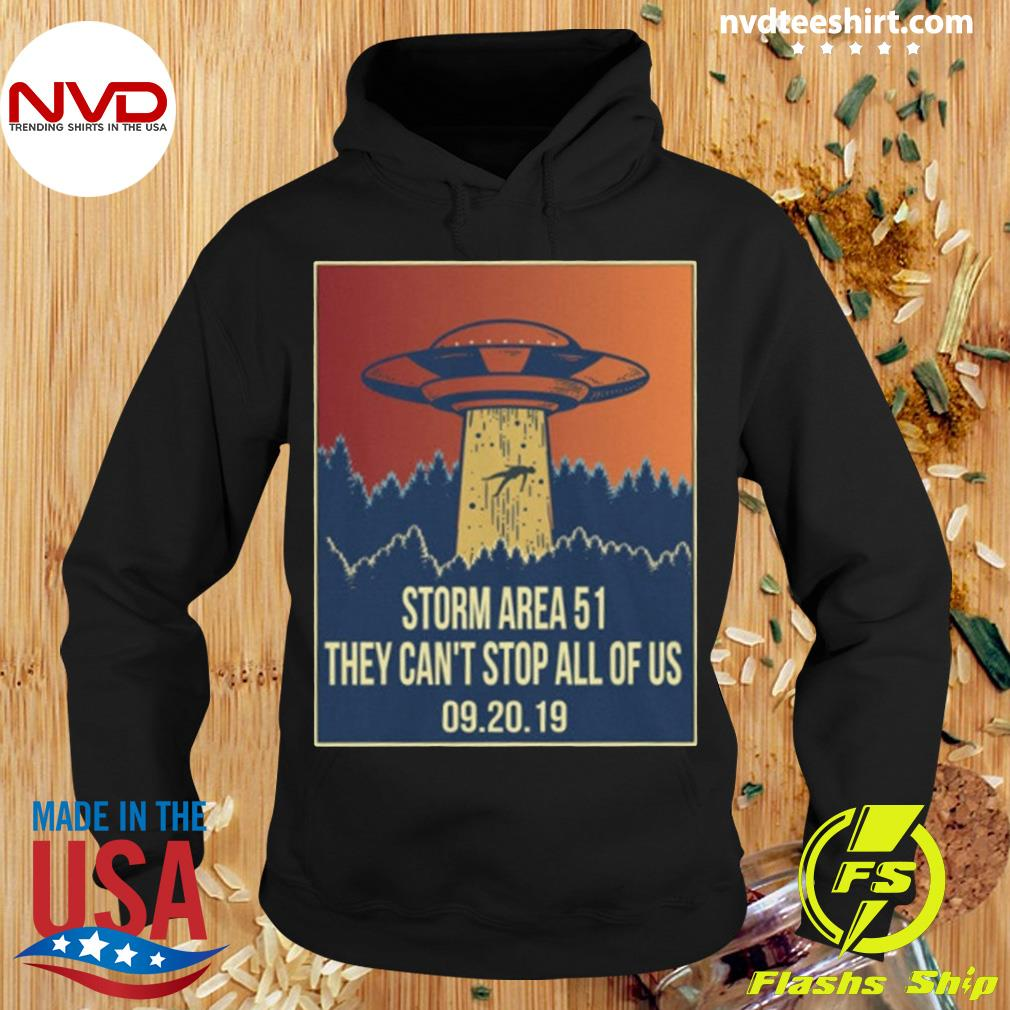 Official Storm area 51 Shirt alien ufo they can't stop us s Hoodie