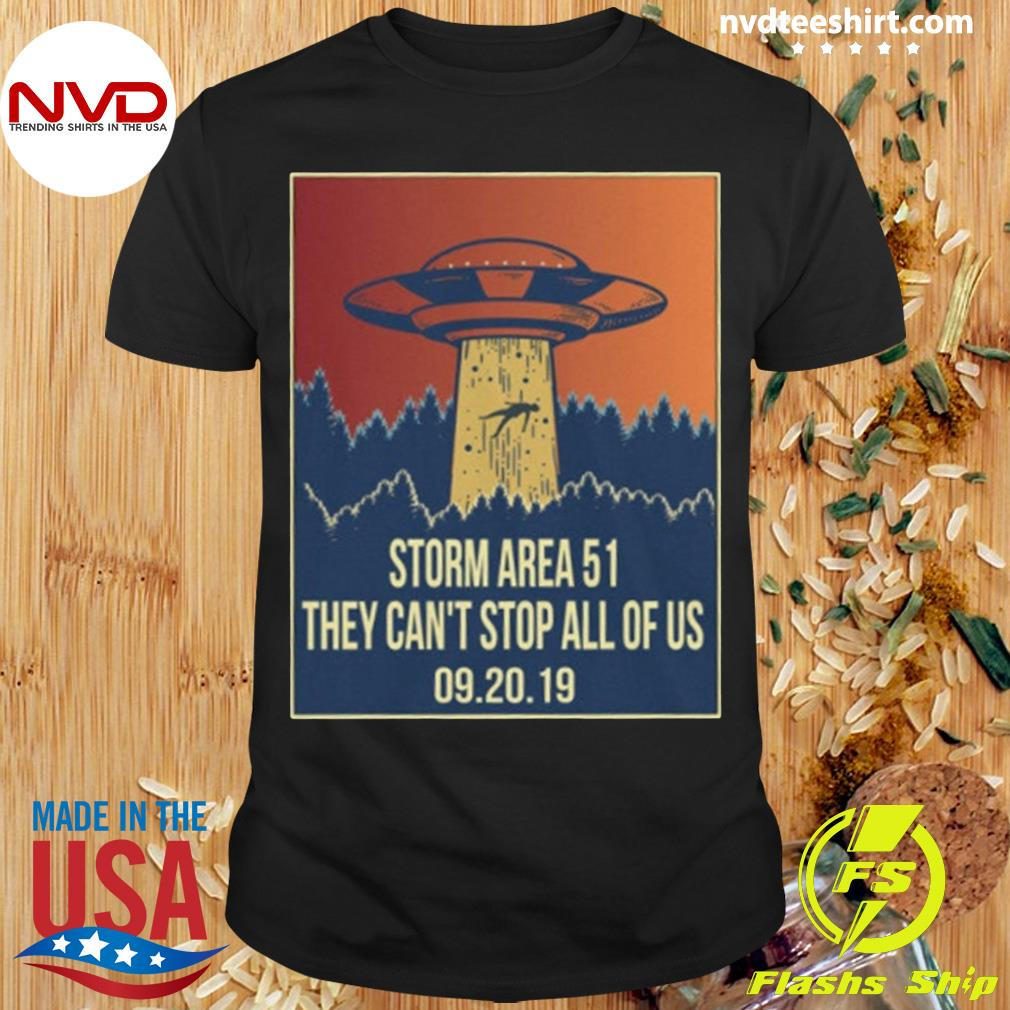 Official Storm area 51 Shirt alien ufo they can't stop us shirt