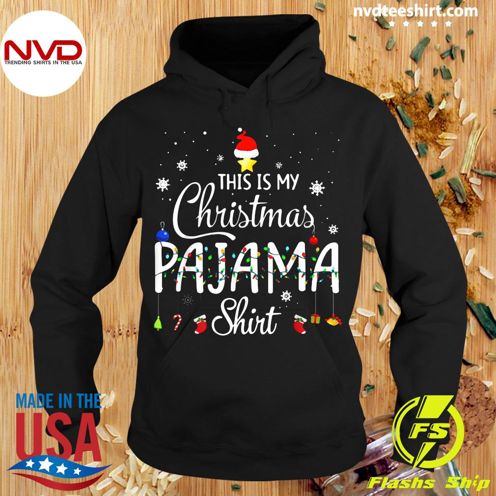 Official This is My Christmas Pajama Shirt Funny Xmas Light Tree T-Shirt Hoodie