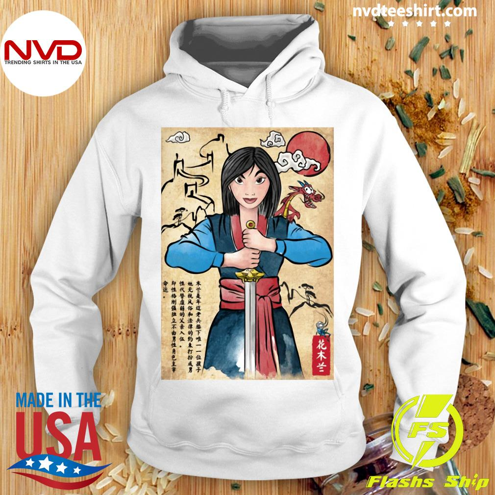 The Legend Of The Woman Warrior Woodblock Girl Shirt Hoodie