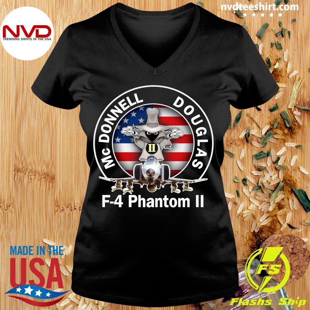 American Flag Mcdonnell Douglas-f 4 Phantom T-s Ladies tee
