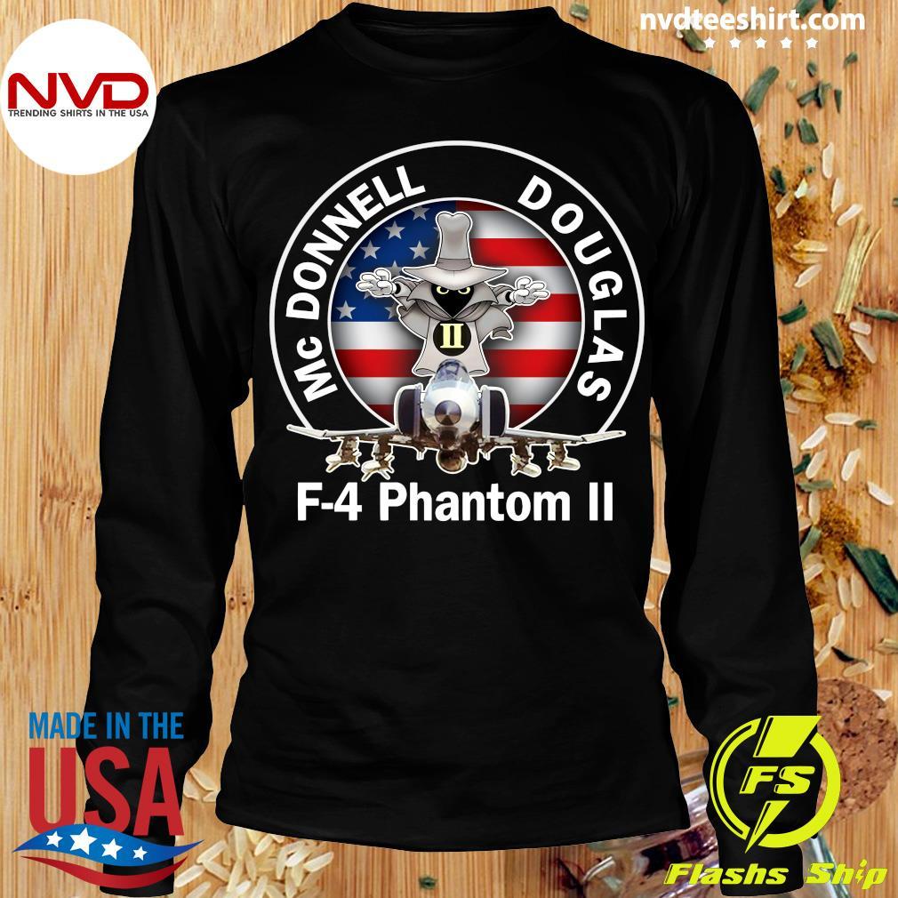 American Flag Mcdonnell Douglas-f 4 Phantom T-s Longsleeve