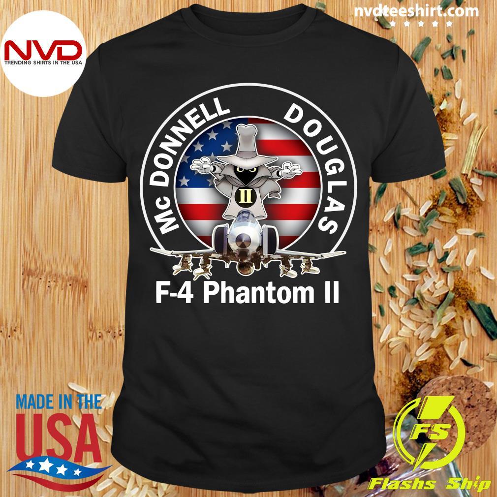 American Flag Mcdonnell Douglas-f 4 Phantom T-shirt