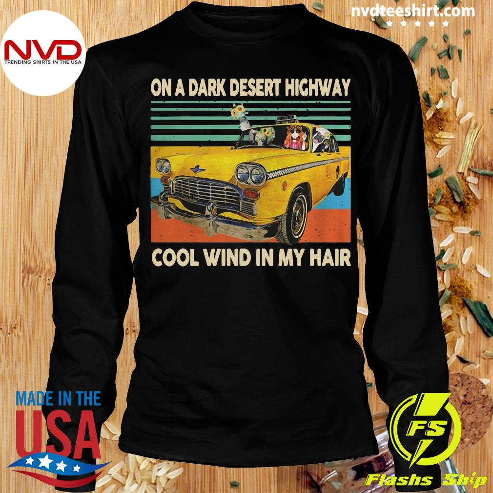 Funny Elephant And Hippie Girl On A Dark Desert Highway Cool Wind In My Hair Vintage T-s Longsleeve
