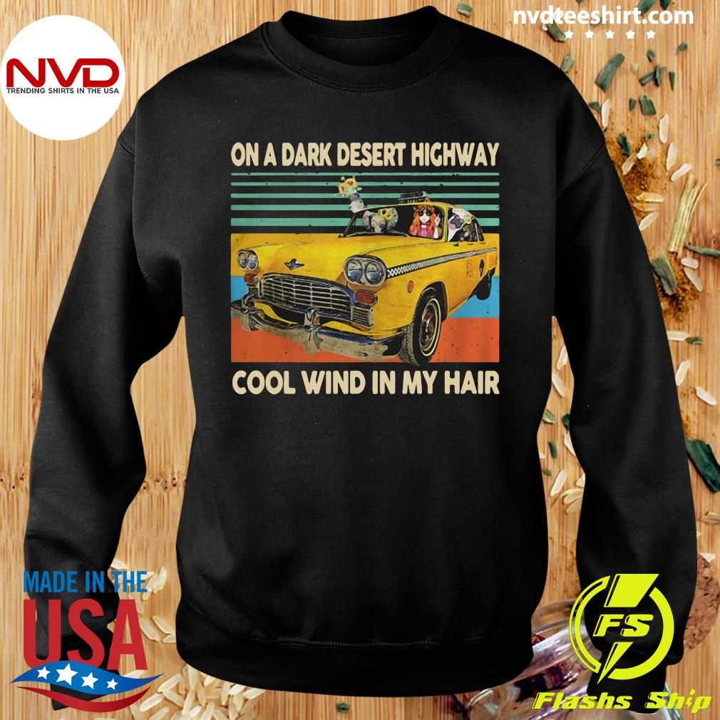Funny Elephant And Hippie Girl On A Dark Desert Highway Cool Wind In My Hair Vintage T-s Sweater