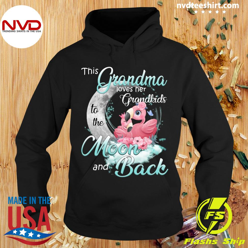 Funny Flamingo This Grandma Loves Her Grandkids To The Moon And Back T-s Hoodie