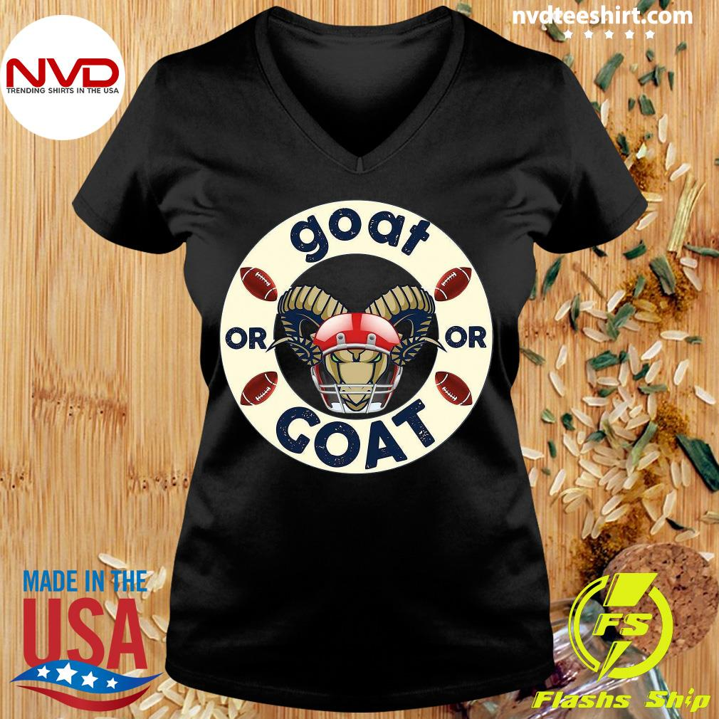 Funny Goat Or Or Goat Football T-s Ladies tee