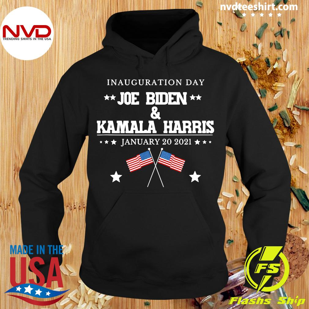 Funny Joe Biden And Kamala Harris Inauguration Day January 20 2021 American Flag T-s Hoodie