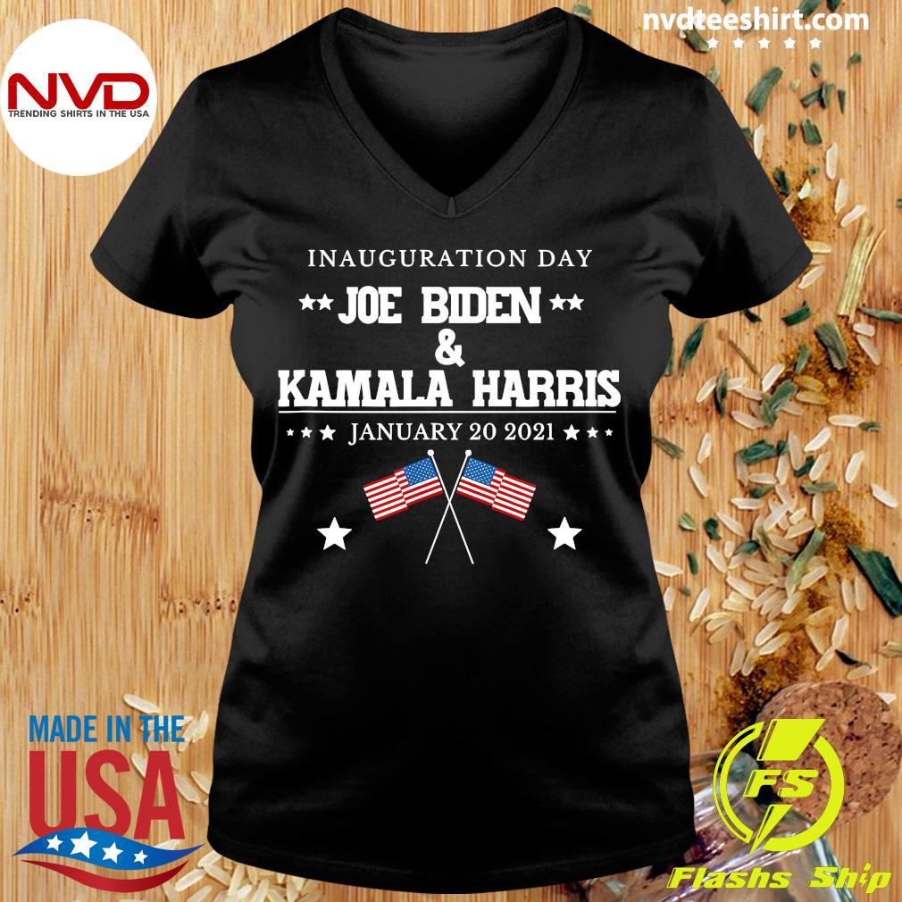 Funny Joe Biden And Kamala Harris Inauguration Day January 20 2021 American Flag T-s Ladies tee