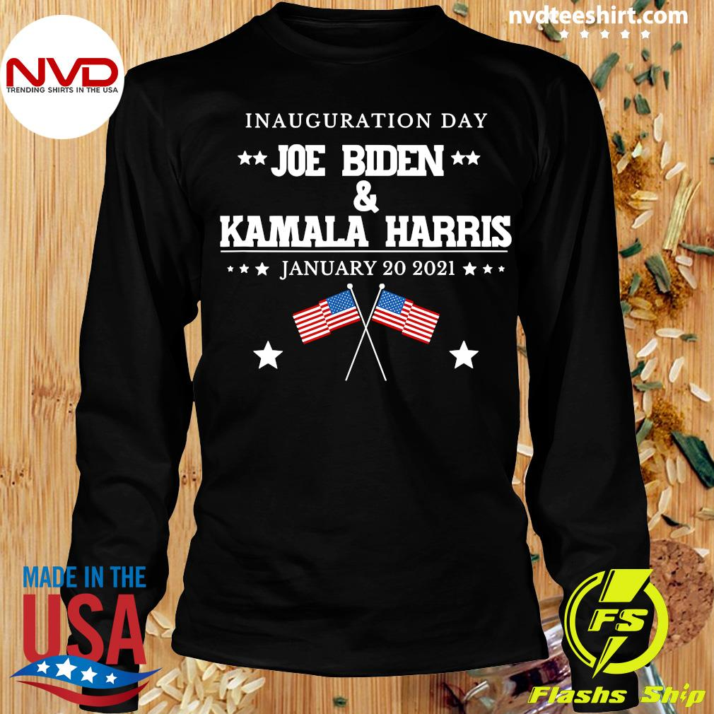 Funny Joe Biden And Kamala Harris Inauguration Day January 20 2021 American Flag T-s Longsleeve