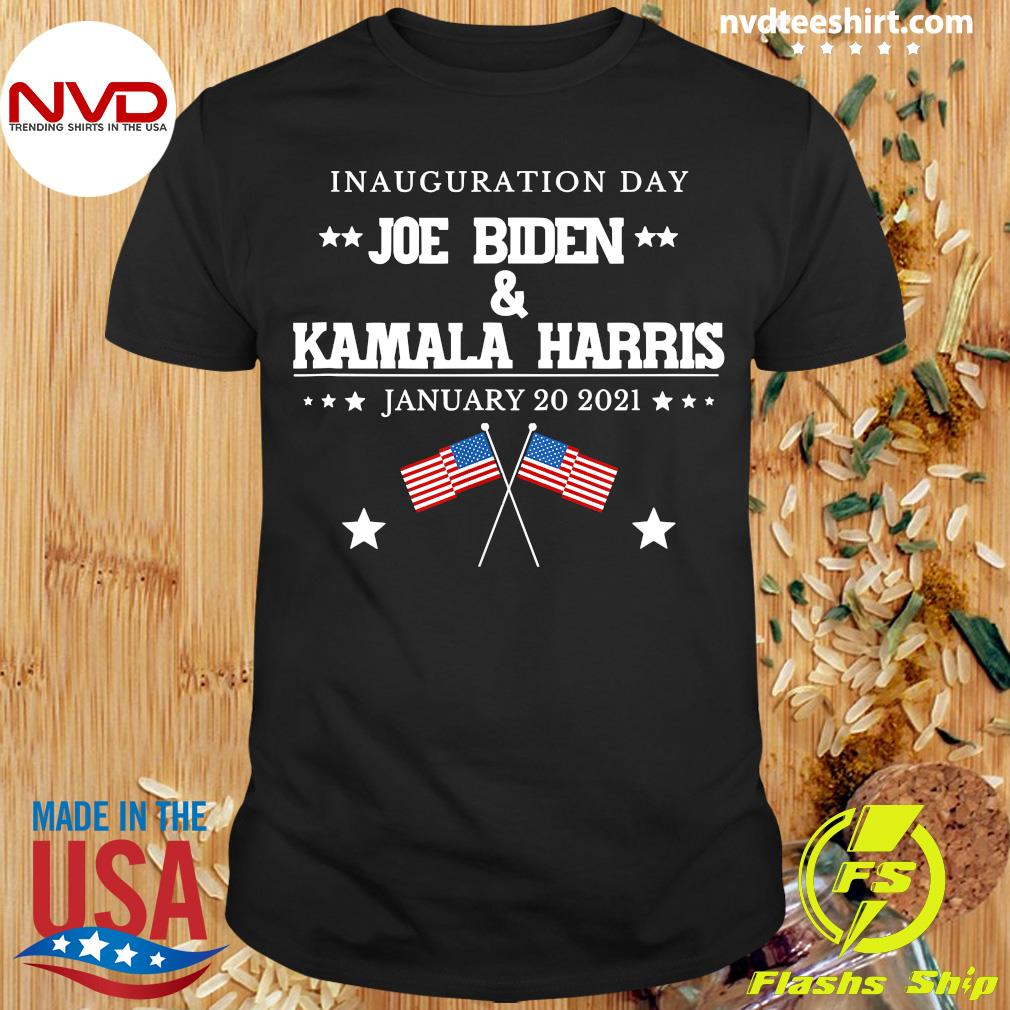 Funny Joe Biden And Kamala Harris Inauguration Day January 20 2021 American Flag T-shirt