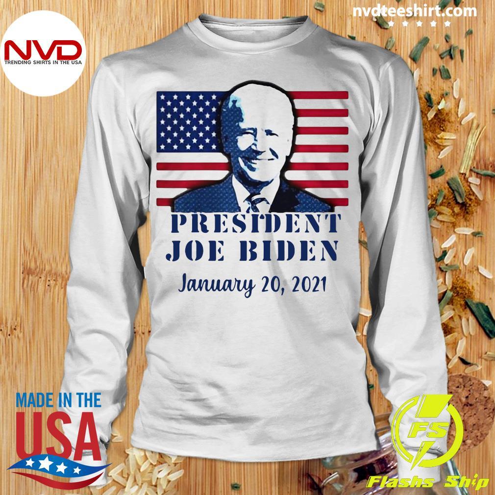 Funny Joe Biden Inauguration Day Jan 20, 2021 American Flag T-s Longsleeve
