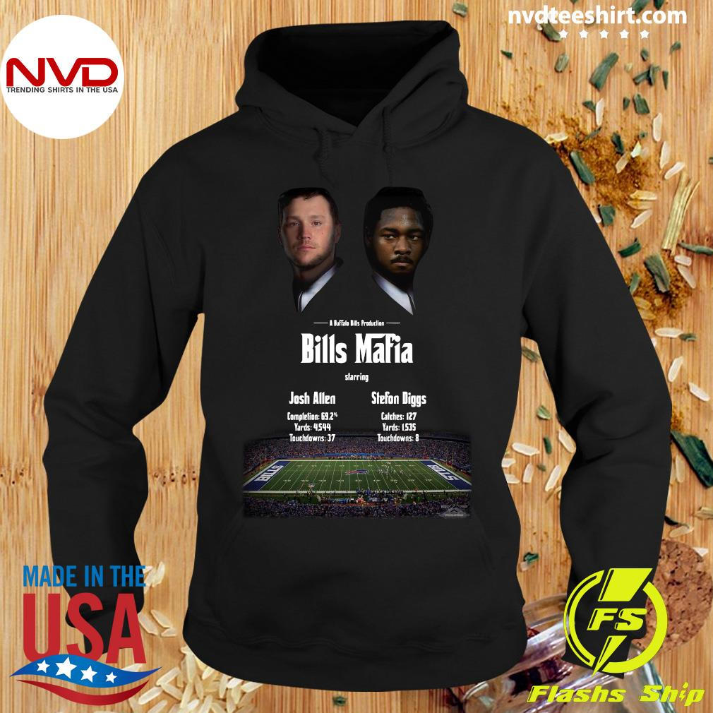 Funny Josh Allen Vs Stefon Diggs In A Buffalo Bills Production Bills Mafia 2021 T-s Hoodie