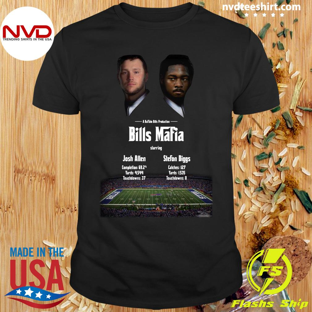 Funny Josh Allen Vs Stefon Diggs In A Buffalo Bills Production Bills Mafia 2021 T-shirt